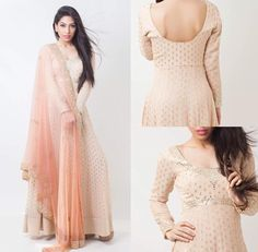 Shop designer misty rose with famed embroidery & diamond work anarkali suit online.This set features a misty rose suit in georgette base with resham and work embroidery on the front and back. Diva Design, Chiffon Saree, Anarkali Suits, All Things, Bell Sleeve Top, Sequins, Sari, Feminine, Glamour