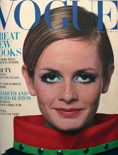 Vintage Vogue Cover,1967 TWIGGY