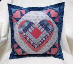 Valentines Heart design cushion cover home by AlsCraftyCorner