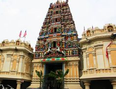 """""""Sri Mahamariamman Temple""""   the oldest and richest Hindu temple in Kuala Lumpur, Malaysia. Founded in 1873. http://exploretraveler.com"""