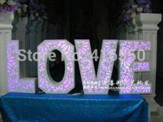 Online Shop New Wedding photo props props photography Stage 3 d background decoration light hollow out love letters|Aliexpress Mobile