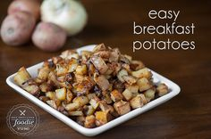 Start your day off right with a hearty breakfast of a couple of eggs and some perfectly seasoned and delicious Easy Breakfast Potatoes.