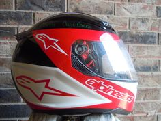 best custom painted race helmet with star | Worldwide Airbrush, custom motorcycle paint and airbrush ...