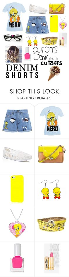 """""""Untitled #63"""" by emmalovesthemall ❤ liked on Polyvore featuring Paul & Joe Sister, TOMS, Rebecca Minkoff, tenoverten, MDMflow, jeanshorts, denimshorts and cutoffs"""