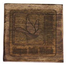 This box is topped with a simple but meaningful design. The dove cut out is symbolic of the decent of the Holy Spirit during the sacrament of Confirmation. Natural mango wood has beautiful light to dark color variation with a rough hewn, distressed appearance, making it a distinctive and unique kind of wood. $24.95