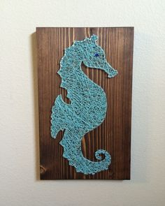 Seahorse String Art (Beach/Ocean)- Order from KiwiStrings on Etsy! ( www.KiwiStrings.etsy.com )
