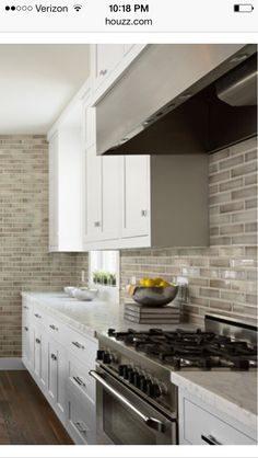Timeless Function - Kitchen & Dining - Digiacomo Homes and Renovation - tile: encore Kitchen Redo, Kitchen Backsplash, New Kitchen, Kitchen Dining, Backsplash Ideas, Grey Backsplash, Kitchen Design Gallery, Kitchen Designs, Timeless Kitchen