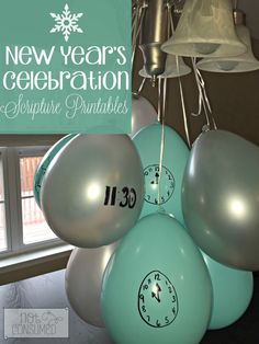 Planning a fun New Year's Celebration with the family? We are going to ring in the New Year with scripture this year. Every hour to half hour between 7pm and midnight, we will pop a new balloon with a treasured scripture inside. After we read from our Bibles, there is also a fun discussion question for the family. It's sure to be a blessed way to celebrate the beauty of a New Year!