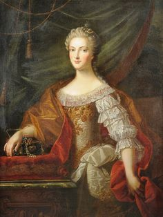 1740s - Archduchess Maria Anna, younger sister of Maria Theresia, after Martin Van Meytens