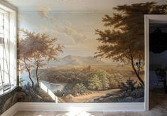Star Walls Mural Art, Murals, Jr Art, Fine Arts Degree, Bachelor Of Fine Arts, Wood Molding, Star Wall, Dutch Artists, Landscape Paintings