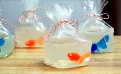 Fun DIY Goldfish in a Bag Soaps - Great for DIY Party Favors