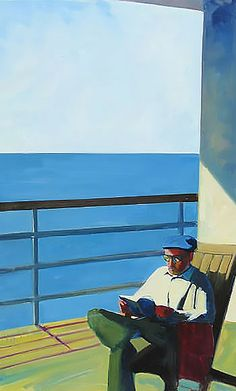 """Reading Portside (The Face of Love) by Tracey Sylvester Harris, 2009, oil on canvas, 48"""" x 30"""" 