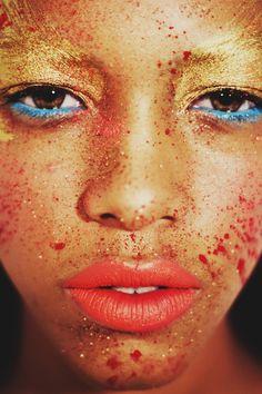 The face - Colors - Visage coloré