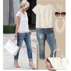 Boyfriend Jeans & Flip Flops - Plus Size - Polyvore