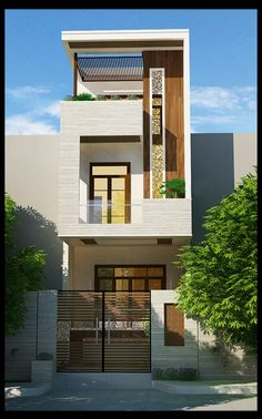 Teds Woodworking® - Woodworking Plans & Projects With Videos - Custom Carpentry House Outer Design, Unique House Design, House Front Design, Minimalist House Design, 3 Storey House Design, Duplex House Design, Style At Home, Bungalow Haus Design, Narrow House Designs