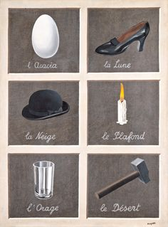 "Rene Magritte, ""La Cle des Songes,"" 1930"