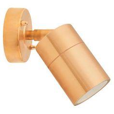 Lightstar 35W Adjustable Down Wall Light Copper