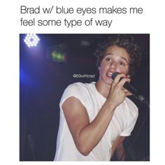 This ^^^ would be too much for me. I barely can handle Brad anyways but with me being a sucker for blue eyes oh way too much