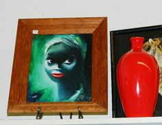 1970s Oil Painting Beautiful Black African by TheIDconnection, $175.00
