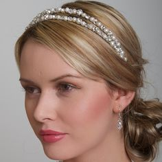 Wedding Headbands - pro and con and how the type of band affects your overall look.