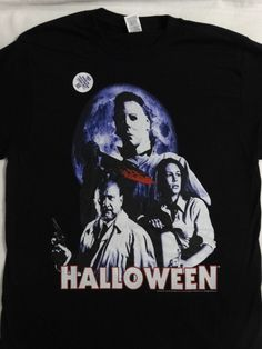 b3019dbe Details about Michael Myers Halloween Horror Movie Dr. Loomis Laurie T-Shirt