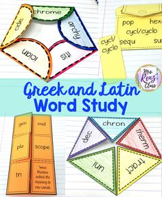 5 Reasons to teach Greek and Latin Word Study, plus one FREE week! Mrs. Renz Class.