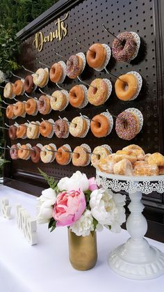 DONUT WALLS!! We love 'em. This is one of ours, available to hire now