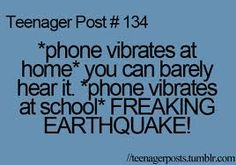Especially when phones are banned at school. Its like just during that time the whole class is silent when the rest of the time no one can hear themselves think