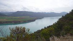 Gerbe, Muro de Roda y embalse de Mediano desde el Cerro Cotón (730 metros)