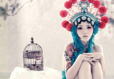 Chinese Opera Muses - Tony Zhou Photographs Models in Performance Makeup and Headdress (GALLERY)
