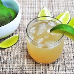 Ginger Limeade Drink - Lime being a common ingredient in your pantry, limeade becomes an obvious choice to churn up a quick, refreshing drink.