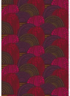 Marimekko Marimekko Vuorilaakso Fabric Red/Brown - KIITOSlife - 1