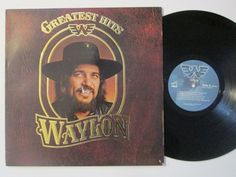 Vinyl Record Waylon Jennings Greatest Hits by RecordStoreGirl