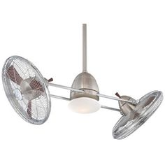 """629.00 MinkaAire Gyro 42"""" Sweep 6 Blade Gyro Indoor Twin Turbo Fans with Blades and Integrated Halogen Light Included"""