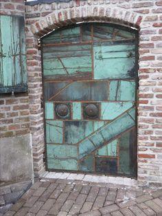 koperen deur in museum t Oude Slot, Veldhoven!!