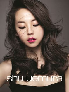 the dazzling So Hee serving us retro-glam for shu uemura