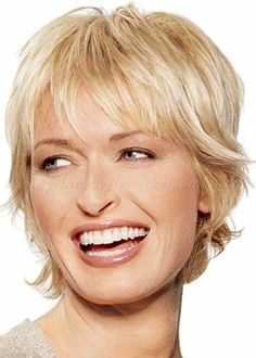 short haircut for women over 50 More