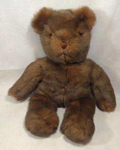"Vintage Ty ""PJ"" Classic Teddy Bear 17"" Plush Stuffed Animal Beanie Feet Soft 1990"