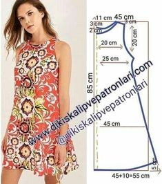 Sewing Hacks, Sewing Projects, Sewing Crafts, Dress Sewing Patterns, Clothing Patterns, Sewing Clothes, Diy Clothes, Simple Dresses, Summer Dresses
