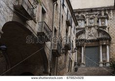 GIRONA, SPAIN - 3 JULY 2017 - Arch near the Sant Marti Sacosta is a church in the municipality of Girona and place of shooting 6th season of Games of thrones. Girona, Spain.