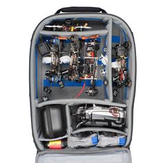 FPV Airport Helipak™ Backpack is built to transport your entire FPV multirotor racing kit to your event location. • Think Tank Photo