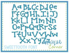 Melonheadz (formerly called Sweet Tooth) Embroidery Font