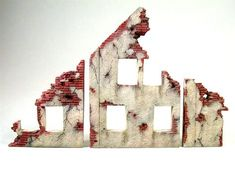 Painting tutorial for a ruined building