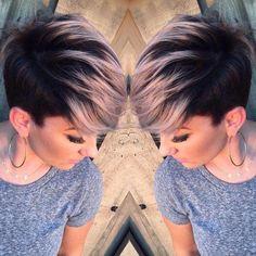 Adorable Pixie Haircut Ideas with Bangs Pastels Short Hairstyles – Undercut with Short Hair – Pixie Hairstyles with smokey pink hair Undercut Hairstyles, Pixie Hairstyles, Short Hairstyles For Women, Undercut Pixie, Teenage Hairstyles, Easy Hairstyles, Beautiful Hairstyles, Edgy Pixie Haircuts, Long Undercut