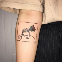 tattoo, flowers, and grunge