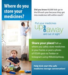 Did you know 60,000 kids go to the ER each year because they got into medicines left within reach?