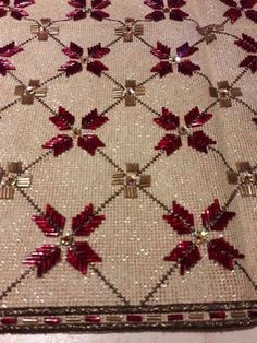Discover thousands of images about (JPEG Image… Beaded Embroidery, Cross Stitch Embroidery, Embroidery Dress, Hand Embroidery Design Patterns, Crochet Bedspread, Bargello, Stitch Design, Handicraft, Crafts To Make