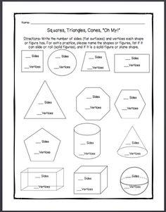 3d shapes worksheets | 3D Shape Challenge - properties of 3d shapes ...