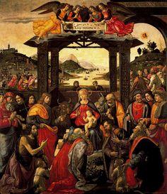 DOMENICO GHIRLANDAJO La adoración de los Magos (1488) Ospedale degli Innocenti, Florencia.