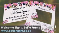 Custom full colour selfie frame and welcome board Free Design, Your Design, Welcome Boards, Seating Plan Wedding, Instagram Frame, Colour Board, Color Schemes, Birthdays, Baby Shower